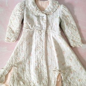 Vintage victorian quilted robe 60's sweetheart